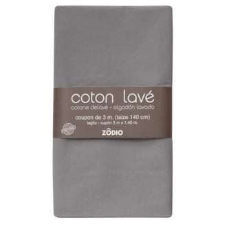 Coton lavé gris coupon 300x140cm