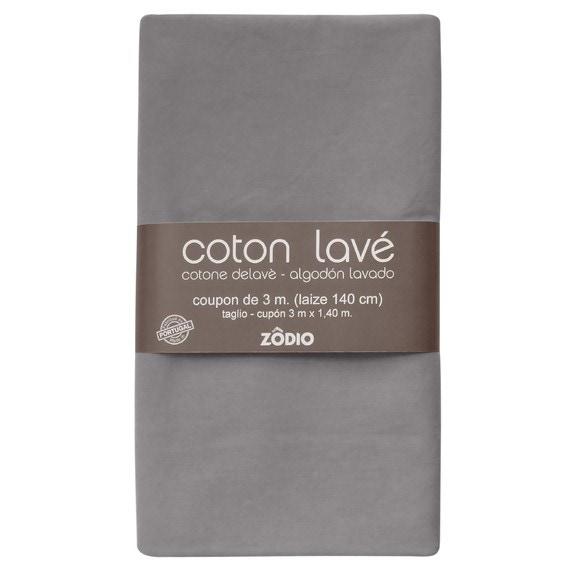 Achat en ligne Coton lavé gris coupon 300x140cm
