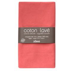 Achat en ligne Coton lavé corail coupon 300x140cm