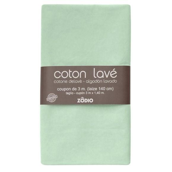 Achat en ligne Coton lavé sauge coupon 300x140cm