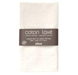 Achat en ligne Coton lavé neige coupon 300x140cm