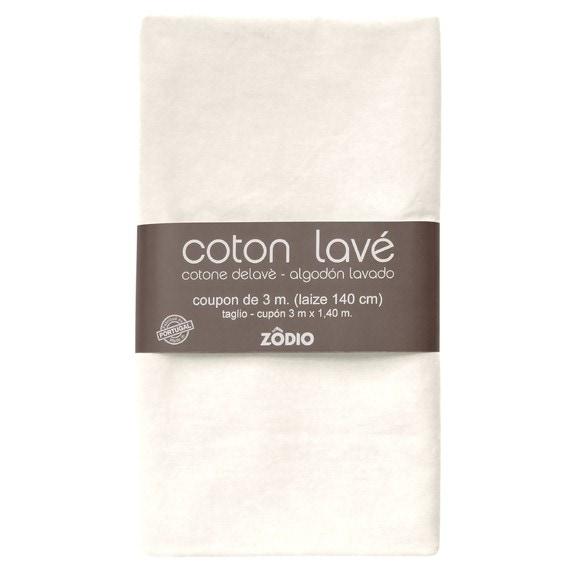 acquista online Stoffa cotone lavato neve 300x140cm