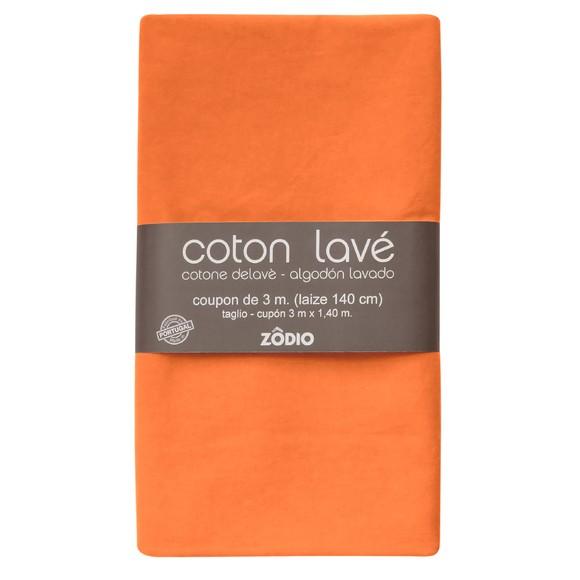 Achat en ligne Coton lavé potiron coupon 300x140cm