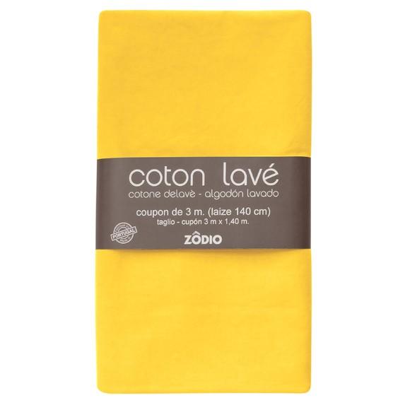 Achat en ligne Coton lavé safran coupon 300x140cm