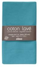 Achat en ligne Coton lavé topaze coupon 300x140cm