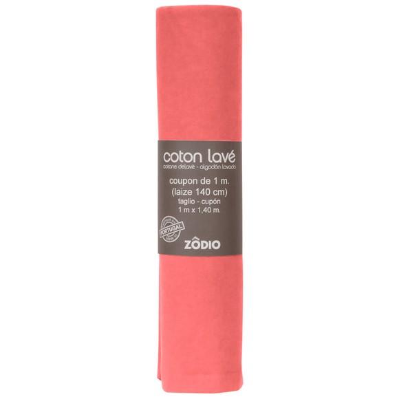 Achat en ligne Coton lavé corail coupon 100x140cm