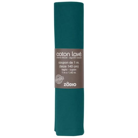 Achat en ligne Coton lavé vert sapin coupon 100x140cm