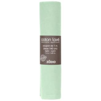 Coton lavé sauge coupon 100x140cm