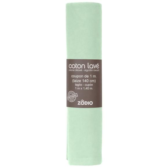 Achat en ligne Coton lavé sauge coupon 100x140cm