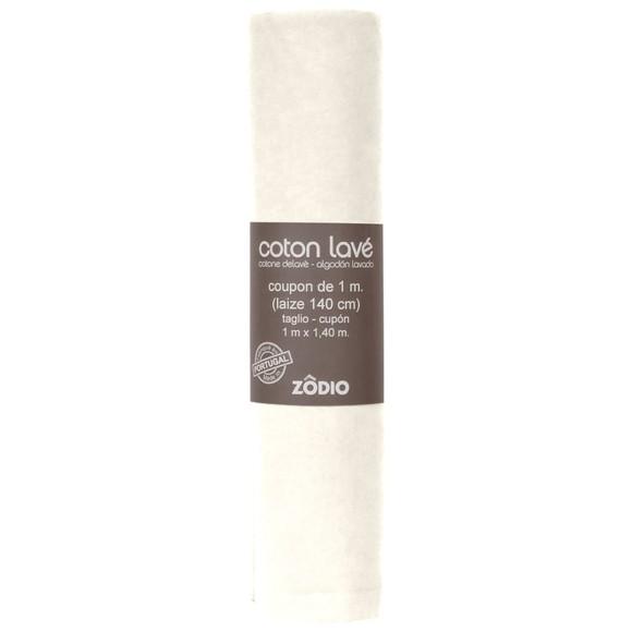 Coton lavé neige coupon 100x140cm