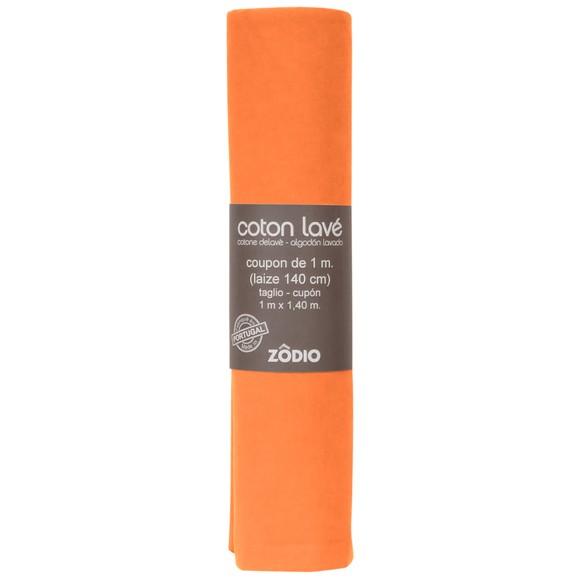 Achat en ligne Coton lavé potiron coupon 100x140cm
