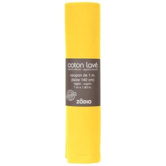 Stoffa cotone lavato giallo 100x140