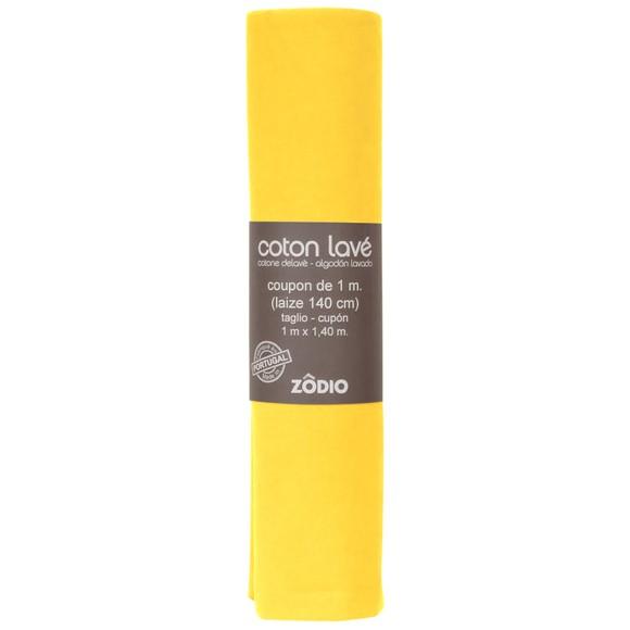 Achat en ligne Coton lavé safran coupon 100x140cm