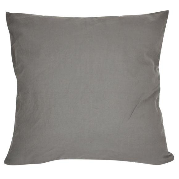Fodera per cuscino quadrata in cotone delavé grigio 40x40cm