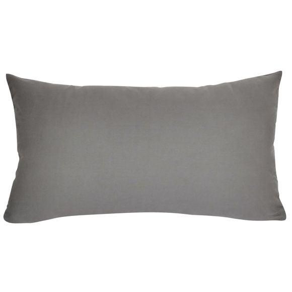 Fodera cuscino in cotone delavato grigio cenere 30x50cm