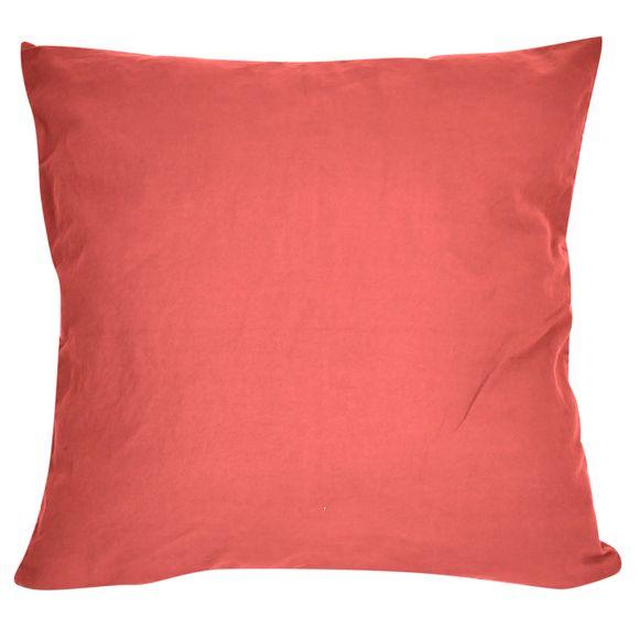 Fodera per cuscino quadrata in cotone delavé arancione 40x40cm