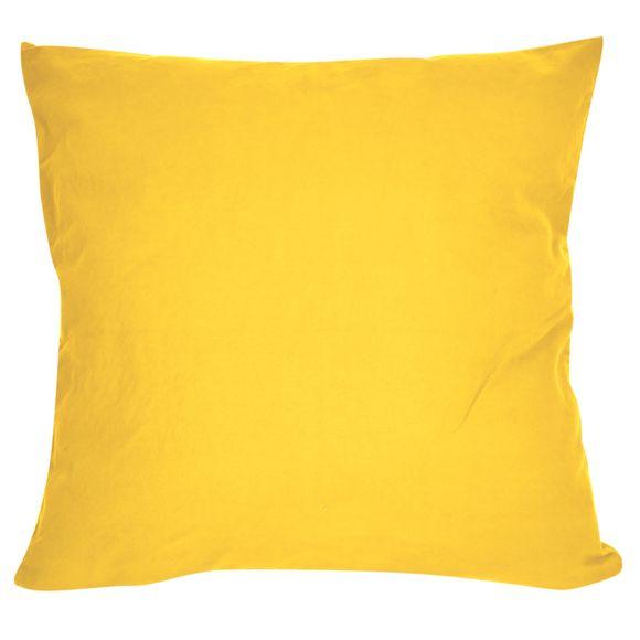 Fodera per cuscino quadrata in cotone delavé giallo 40x40cm