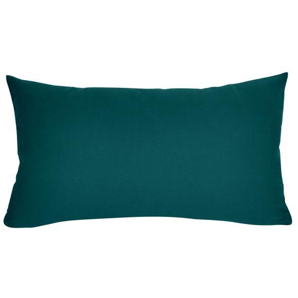 Fodera cuscino rettangolare in cotone delavé verde