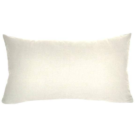 Fodera cuscino rettangolare in cotone delavé bianco