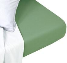 Achat en ligne Drap housse coton lavé thym matelas épais 140x200cm