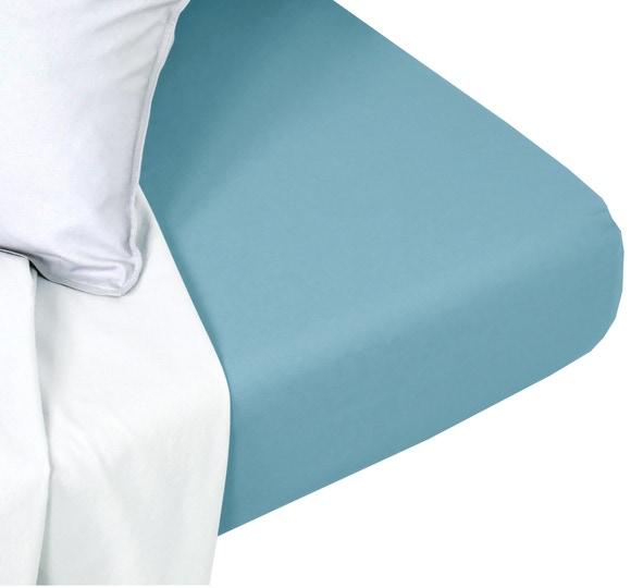 Achat en ligne Drap housse coton lavé postal matelas épais 160x200cm