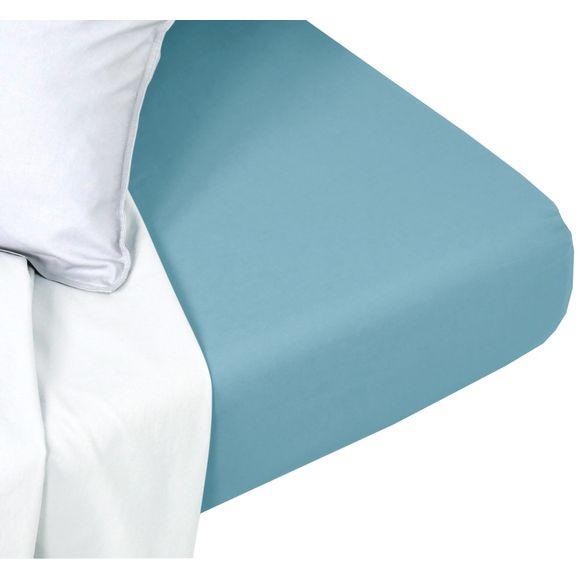 acquista online Lenzuolo con angoli singolo in cotone delavé blu azzurro