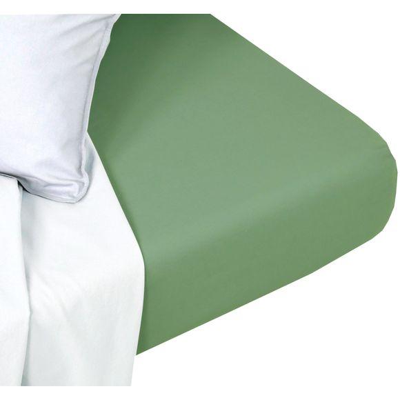 acquista online Lenzuolo con angoli singolo in cotone delavé verde salvia