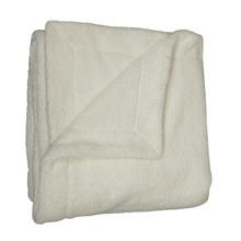 Achat en ligne Plaid XL 150x200cm en polyester effet fourrure écru Doudou