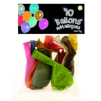 Set de 10 ballons à gonfler nacres multicolore diamètre 30cm