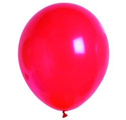 Achat en ligne Set de 10 ballons à gonfler unis rouge diamètre 25cm