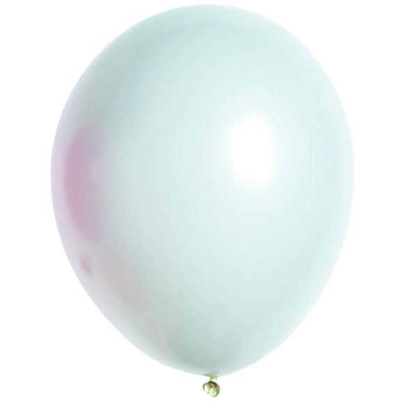 Set de 10 ballons à gonfler unis blanc diamètre 25cm