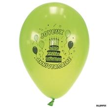 Achat en ligne Set 10 ballons à gonfler imprimé anniversaire diamètre 25cm