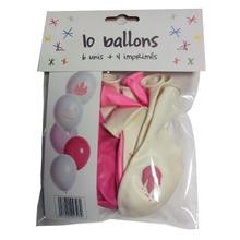 Achat en ligne Set de 10 ballons théme princesse diamètre 25cm
