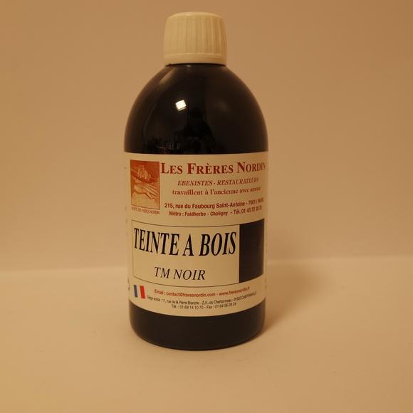 Teinte mordante à l'eau noir chimique en bouteille 500ml