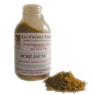 FRERES NORDIN - Terre pigment ocre jaune en bouteille 30ml
