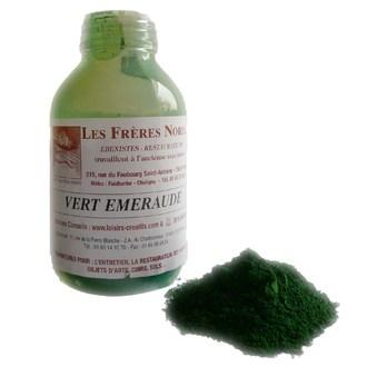 FRERES NORDIN - Terre pigment vert émeraude en bouteille 30ml