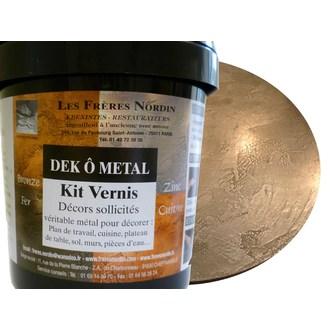 FRERES NORDIN - Dek ô métal zinc vernis en kit 200ml