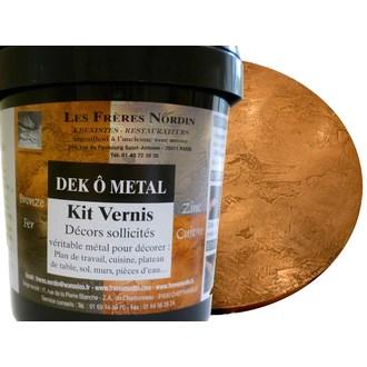 FRERES NORDIN - Dek ô métal bronze vernis en kit 400ml