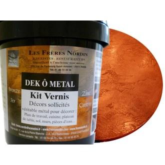 FRERES NORDIN - Dek ô métal cuivre vernis en kit 400ml