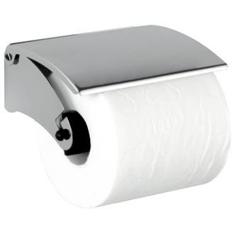 ZODIO - Dérouleur papier toilette avec couvercle en métal chromé