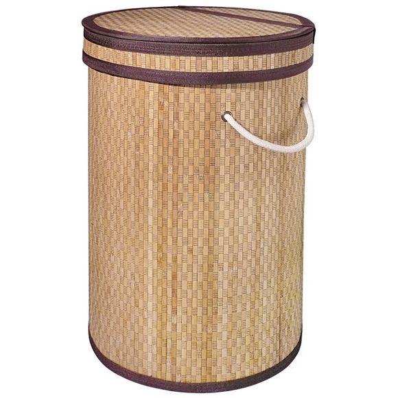 Portabiancheria in bamboo, cilindrico, h55cm