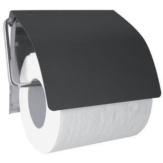 Dérouleur pour papier toilette avec couvercle gris foncé