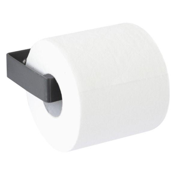 Dérouleur pour papier toilette en métal gris foncé