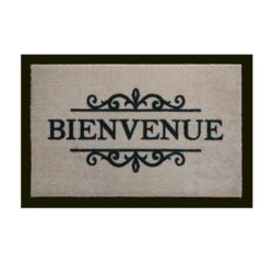 Achat en ligne Tapis d'intérieur Bienvenue beige 40x60cm