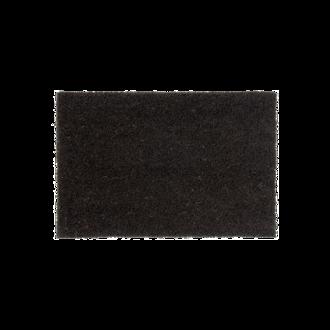 Tapis d'entrée rectangulaire antidérapant coco anthracite 33x60cm