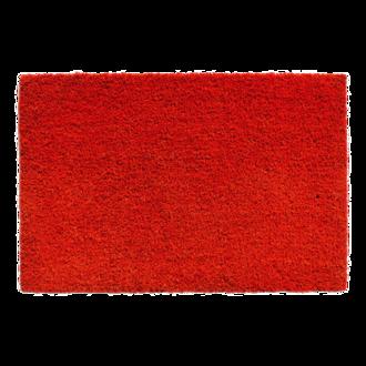Tapis d'entrée rectangulaire antidérapant coco rouge 33x60cm