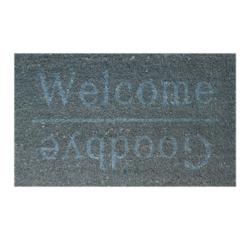 Achat en ligne Tapis d'entrée rectangulaire coco Welcome/Good bye 33x60cm