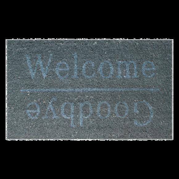 Tapis d'entrée rectangulaire coco Welcome/Good bye 33x60cm