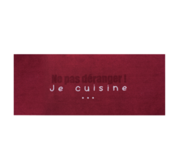 Achat en ligne Tapis de cuisine antidérapant Ne pas déranger rouge 50x120cm