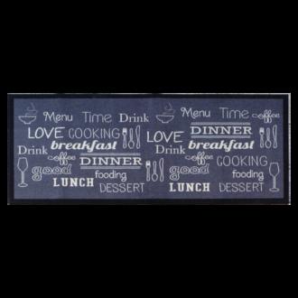 Tapis de cuisine antidérapant Breakfast/Lunch/dinner 50x120cm